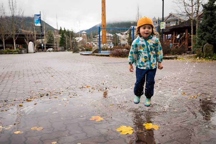 Whistler Village Fall Child