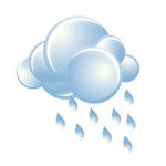 Cloudy; a morning shower in spots followed by occasional rain and drizzle in the afternoon